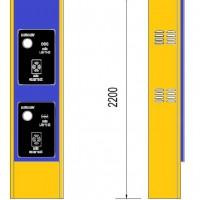 Tủ máy phát thẻ tự động 2 tầng cho bãi giữ xe thông minh LH003